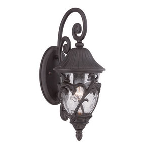 Capri Black Coral One-Light Outdoor Wall Mount