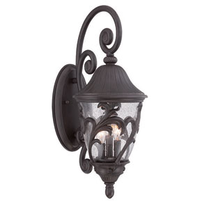 Capri Black Coral 24-Inch Three-Light Outdoor Wall Mount