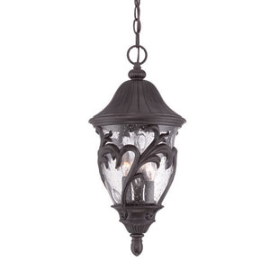 Capri Black Coral Nine-Inch Three-Light Outdoor Pendant