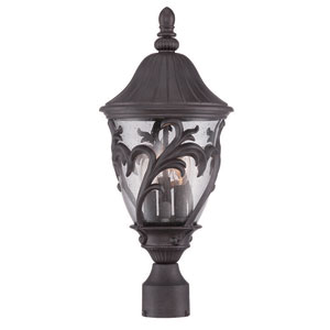 Capri Black Coral 20-Inch Three-Light Outdoor Post Mount