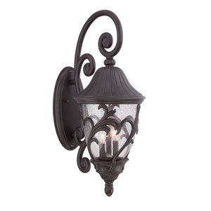 Capri Black Coral Three-Light Outdoor Wall Mount