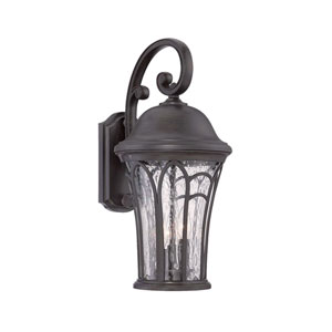 Highgate Black Coral Seven-Inch One-Light Outdoor Wall Mount