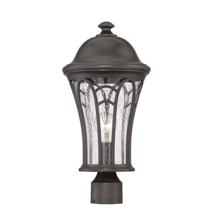Highgate Black Coral Nine-Inch One-Light Outdoor Post Mount