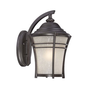 Vero Black Coral Eight-Inch One-Light Outdoor Wall Mount