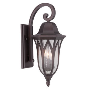 Milano Architectural Bronze Nine-Inch Three-Light Outdoor Wall Mount