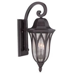 Milano Oil Rubbed Bronze Nine-Inch Three-Light Outdoor Wall Mount