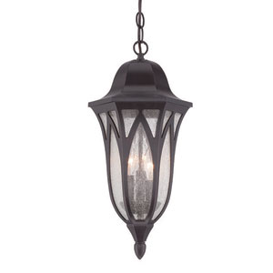 Milano Oil Rubbed Bronze Nine-Inch Three-Light Outdoor Pendant