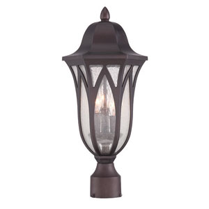 Milano Architectural Bronze Three-Light Outdoor Post Mount