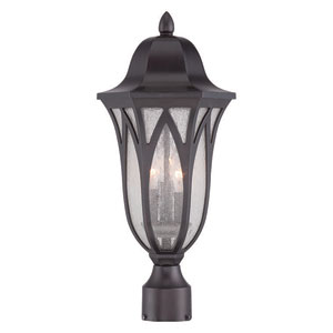 Milano Oil Rubbed Bronze Three-Light Outdoor Post Mount
