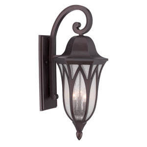 Milano Architectural Bronze 11-Inch Three-Light Outdoor Wall Mount