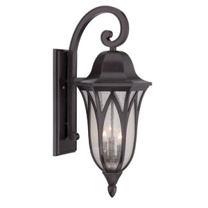 Milano Oil Rubbed Bronze 11-Inch Three-Light Outdoor Wall Mount