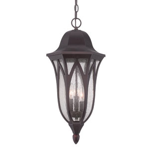 Milano Architectural Bronze 11-Inch Three-Light Outdoor Pendant