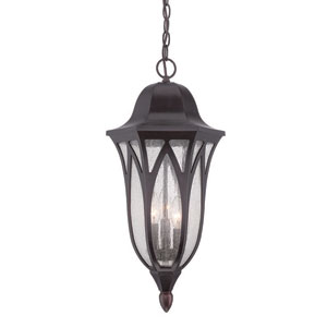 Milano Oil Rubbed Bronze 11-Inch Three-Light Outdoor Pendant