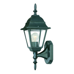 Builders Choice Matte Black One-Light Wall Fixture