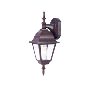 Builders Choice Burled Walnut One-Light Wall Fixture