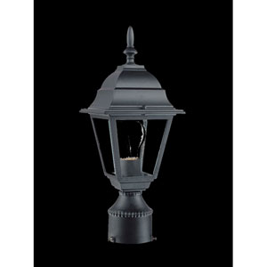 Builders Choice Matte Black One-Light Post Head