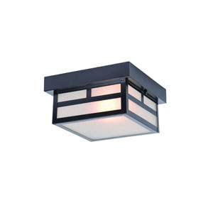 Artisan Matte Black One-Light Outdoor Ceiling Mount