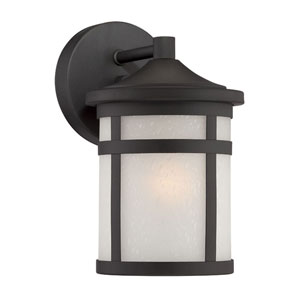 Austin Matte Black One-Light Outdoor Wall Mount