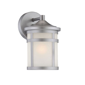 Austin Brushed Silver One-Light Outdoor Wall Mount