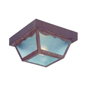Builders Choice Burled Walnut One-Light Ceiling Fixture