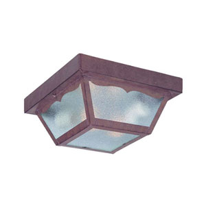 Builders Choice Burled Walnut Two-Light Ceiling Fixture