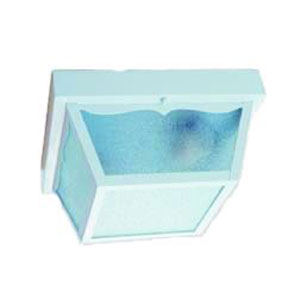 Builders Choice Gloss White Two-Light Ceiling Fixture