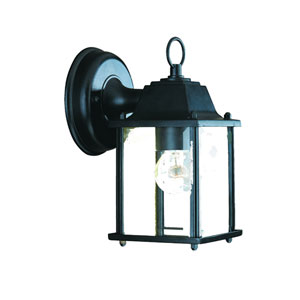 Builders Choice Matte Black One-Light Wall Lantern