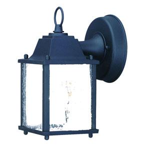 Builders Choice Matte Black One-Light Wall Lantern