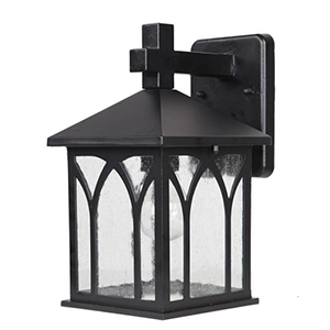 Builders Choice Matte Black One Light Wall Lantern Fixture