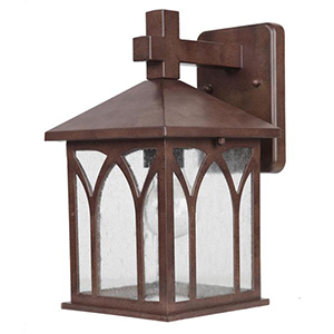 Builders Choice Burled Walnut One Light Wall Lantern Fixture
