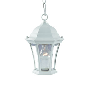 Brynmawr Textured White One-Light Hanging Fixture