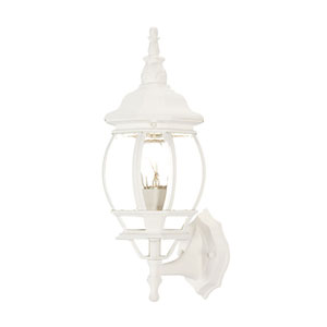 Chateau Textured White Wall Lantern