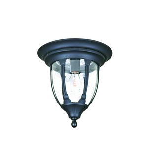 Suffolk Matte Black One-Light Ceiling Fixture