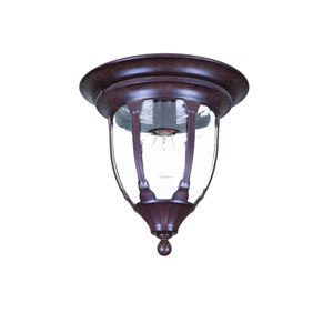 Suffolk Burled Walnut One-Light Ceiling Fixture