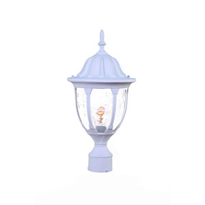 Suffolk Textured White One-Light Post Lantern