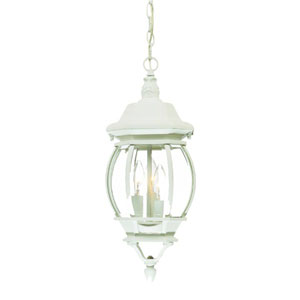 Chateau Textured White Three-Light 19.5-Inch Outdoor Pendant