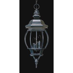 Chateau Matte Black Four-Light Hanging Fixture