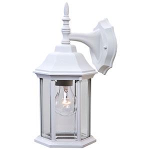 Craftsman 2 Textured White Wall Lantern