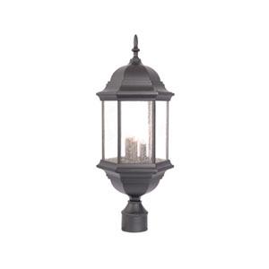 Madison Three-Light Matte Black Post Lantern