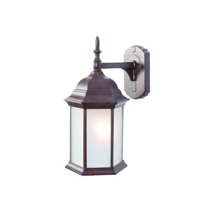 Craftsman Burled Walnut One-Light Wall Fixture Frosted Glass