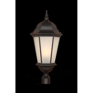 Richmond Matte Black Three-Light Post Lantern