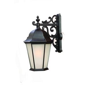 Richmond Matte Black One-Light Wall Lantern 23.5 Inch Tall