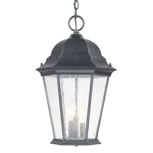 Richmond Three-Light Matte Black Hanging Lantern