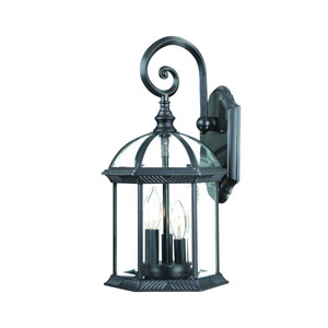 Dover Matte Black One-Light Wall Lantern