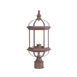 Dover Burled Walnut Post Lantern
