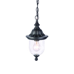 Builders Choice Matte Black One-Light Hanging Fixture