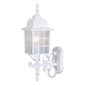 Nautica Textured White Outdoor Wall Sconce