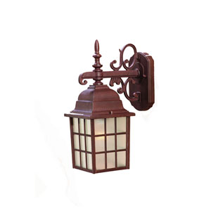 Nautica Burled Walnut One-Light Wall Fixture