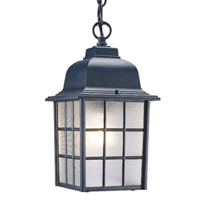 Nautica Matte Black One-Light Hanging Fixture