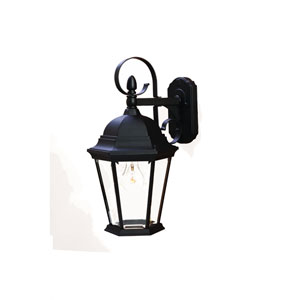 New Orleans Matte Black One-Light Wall Fixture